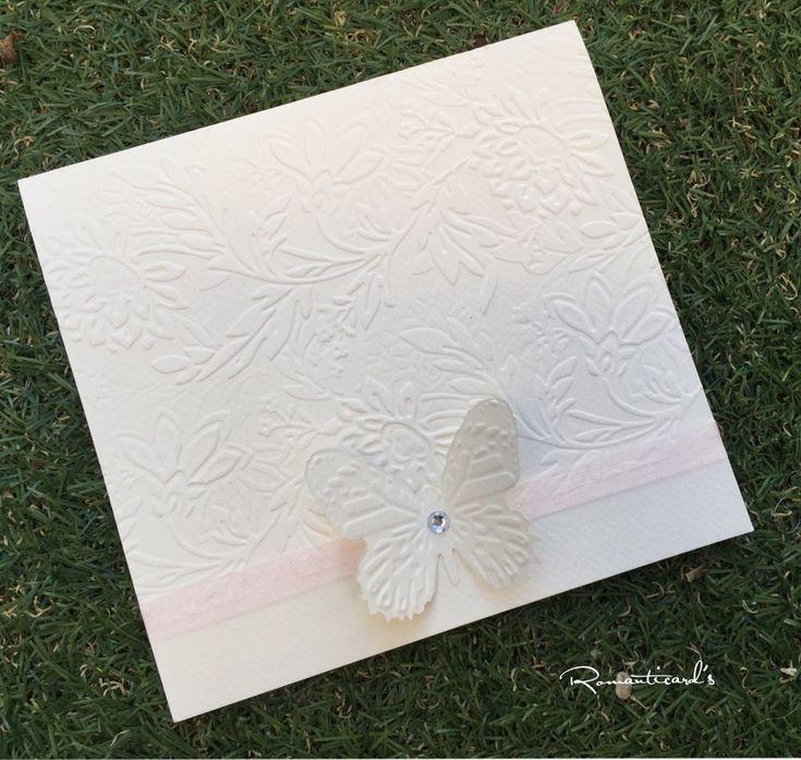 Partecipazione di matrimonio tema farfalla by Romanticards, by Romanticards e Little Rose Handmade, 1,70 € su misshobby.com