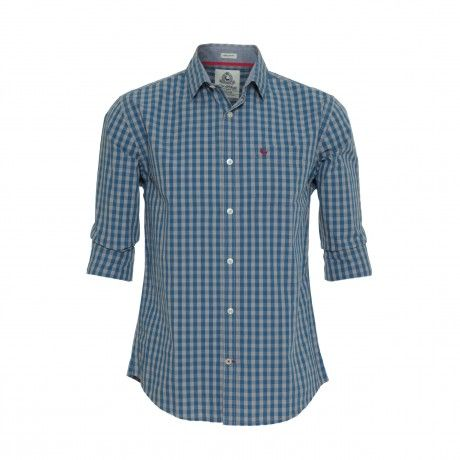 The Old Khaki Jeff is a slim fit long sleeve gingham checked shirt.