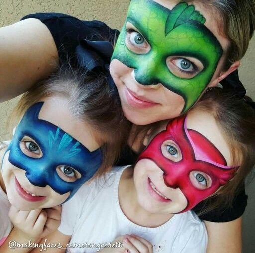 PJ Masks | Схемы раскраски лиц