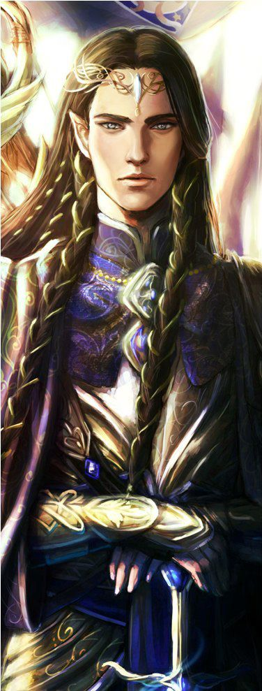 If Nav could convince Alahir to dress up, he'd probably look like this (sans the pointed ears). (Fingon by niyochara)