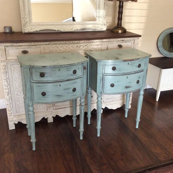 CHIC NIGHTSTANDS For Sale Beach Cottage End Tables Two