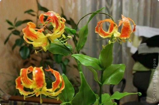 Мастер-класс Лепка: Глориоза (Gloriosa) - МК по лепке из холодного фарфора Фарфор холодный