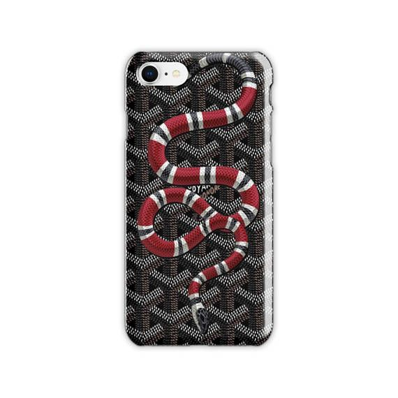 newest 2faa2 3663f Black Goyard Phone Case, Goyard Snake iPhone 8 Case, Goyard iPhone ...