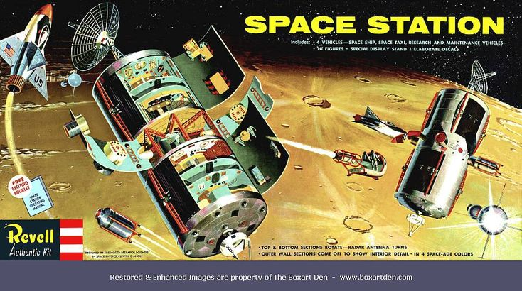 Revell Space Station   Space station, Revell, Vintage space