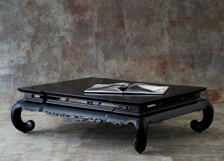 Limited Production Design U0026 Stock: Ralph Lauren Chinese Ming Coffee Table *  Bel Air Black * 17 X 60 X 47 Inches * Partner Bedroom U0026 Living Area  Furniture ...