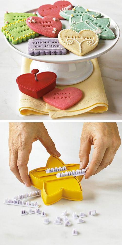 Pon mensajes en tus galletas.
