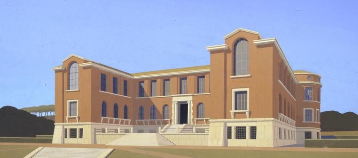 1925-64 Scuola Superiore (ora Facoltà di Architettura) a valle Giulia, Roma, Arch. Enrico Del Debbio