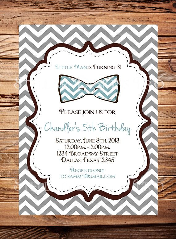 7 best Little Man Theme images – Little Man Birthday Party Invitations