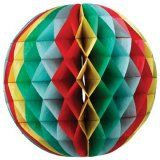 A wonderful way to brighten up your home - multicoloured honeycomb paper balls
