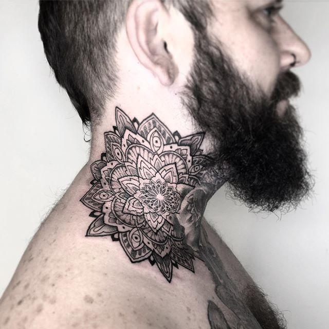 Mandala Tattoo Bali By Ipin Koloni Canggu Tattoo Studio Neck Tattoo Jalan Batu