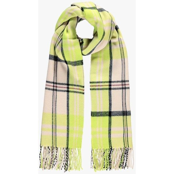 Boohoo Sofia Neon Check Tassel Brushed Cotton Scarf ($22) ❤ liked on Polyvore featuring accessories, scarves, tassel scarves, neon scarves, checkered scarves and oversized scarves
