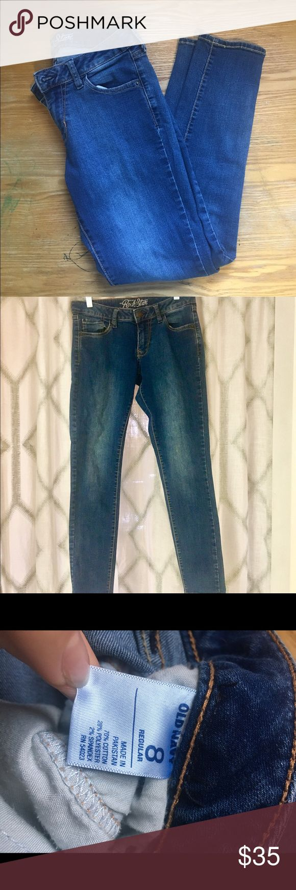 Old Navy Rockstar jeans Skinny style with faded look along the thighs Old Navy Jeans Skinny