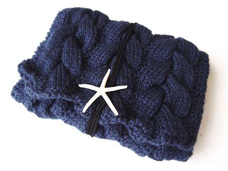 ニットクラッチバッグ-Ine(S)-NVY - Beyond the reef 一つ一つ丁寧に編み上げるハンドメイドのクラッチバッグ