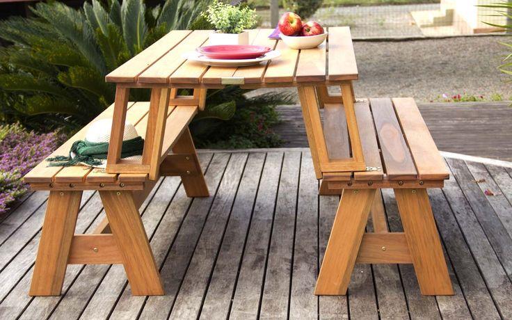 Banco que vira mesa ou mesa que vira banco? Com oConjunto de bancos /mesaMulti-uso você pode transformar dois bancos em uma mesa com bancos e ter em sua churrasqueira ou espaço gourmet uma criativa mesa para churrasqueira de madeira!    O p