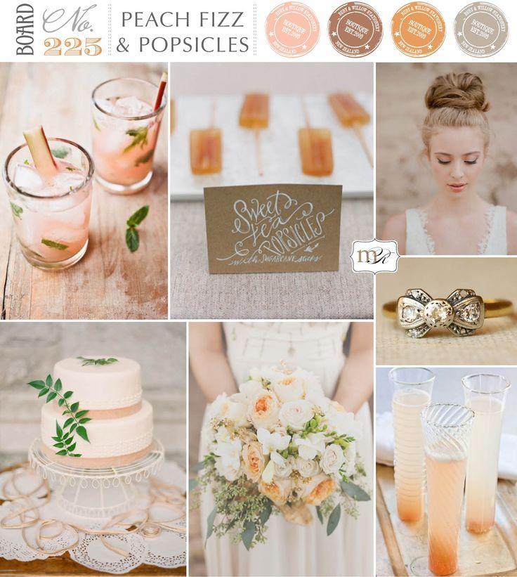 Magnolia Rouge: Board#225: Peach Fizz  Popsicles
