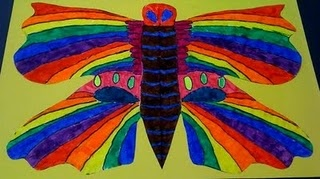 Symmetrical Butterfly Lesson. Going to do this when I teach my kids about what symmetrical means next week when we do butterflies. :)