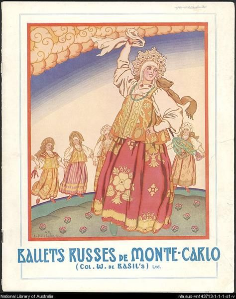Cartel de Ballet Ruso, 1930 - Iván Bilibin