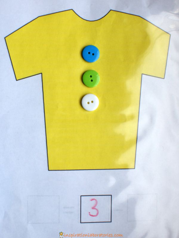 button counting with Pete the Cat