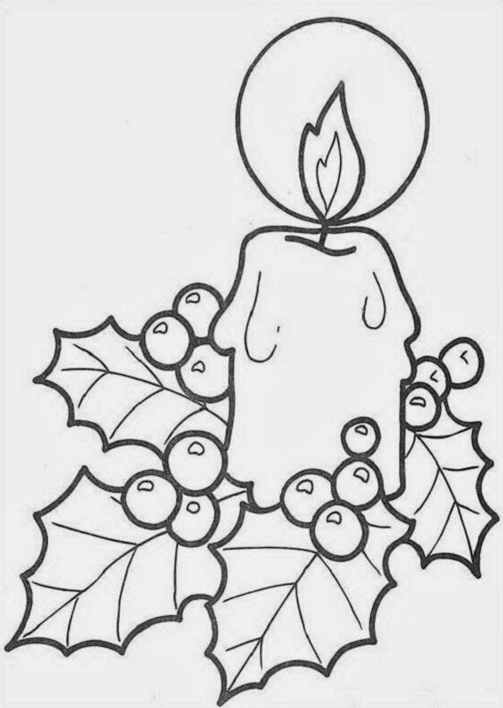 sauvage27: CANDELE DI NATALE - Disegni da colorare (Candles of ...