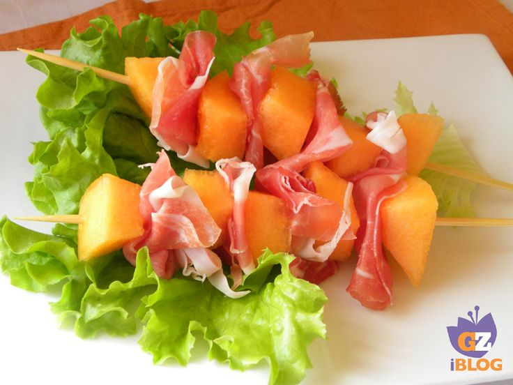 Spiedini di crudo e melone - fingerfood