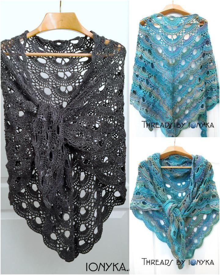 Crochet German Scalloped Shawl - 10 FREE Crochet Shawl Patterns for Women's   101 Crochet