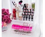 Wholesale clear acrylic plastic makeup organizer with drawers CO-079