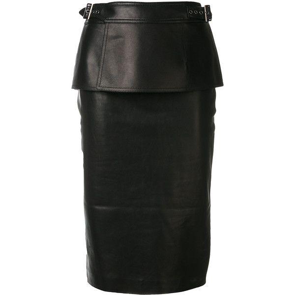 Tom Ford peplum midi skirt (€2.410) ❤ liked on Polyvore featuring skirts, black, peplum skirt, midi skirt, peplum midi skirt, tom ford skirt and tom ford