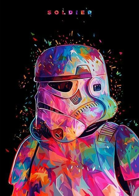 Star Wars Stormtrooper And Colors Afbeelding Star Wars Art Star Wars Tribute Star Wars Wallpaper