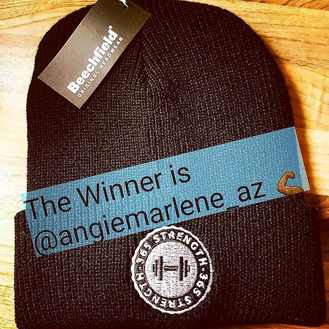 Congratulations @angiemarlene_az on winning the 365strength Beanie Hat.  Thank you to all who liked and tagged fiends keep your  peeled for more chances to win.  #beanieseason #beaniehat #team365strength #bodybuildingapparel #crossfitapparel #whentrainingislife #vikingpower #beastmode #strengthandconditioning #justlift #justtrain #crossfit #strongmindstrongbody #strength #365strength
