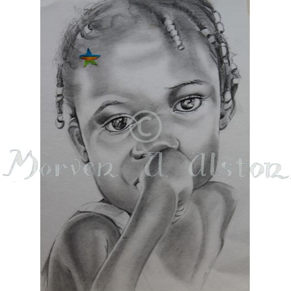 A Young STAR (Sold to Aid Rwanda). From an original drawing by Morven A. Alston.   I am proud to release my STAR cards range (Sold To Aid Rwanda). At $5 each (plus postage) my STAR range are ideal Christmas cards, and each sale is donated to assisting the people of Rwanda. Produced and printed by AnArtery.