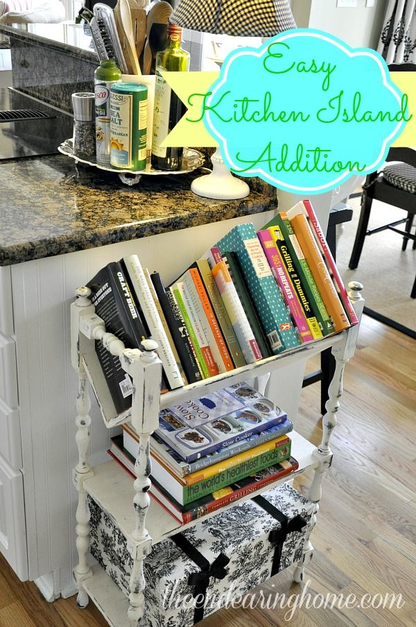 A Recipe For Adding Extra Storage To Your Kitchen Island. Cookbook ...