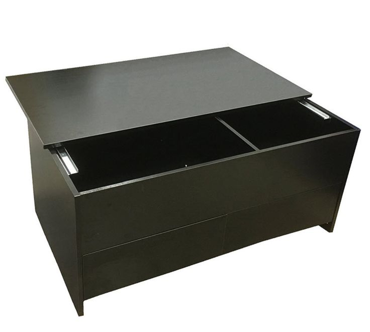 Black Coffee Table With Storage Uk: Best Coffee Table With Sliding Top Two Drawers Black