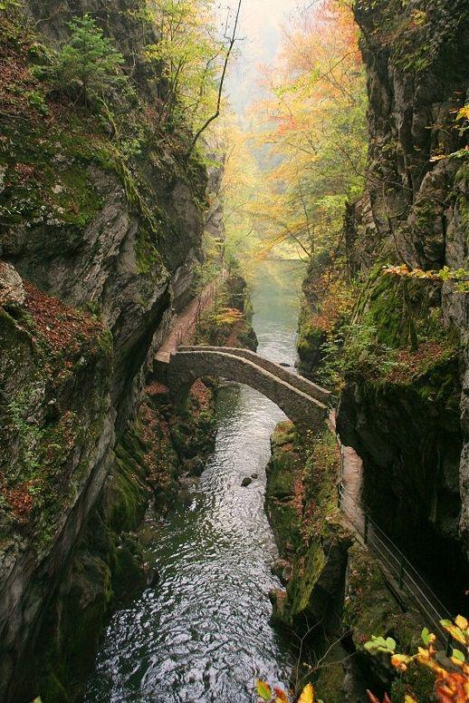 Bridge at Gorges de l'Areuse / Switzerland