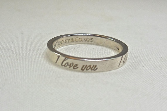 Tiffany I Love You Ring Wedding Band Promise by RighteousRecycling $110 00