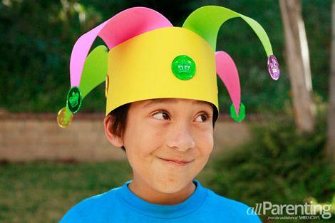 Mardi Gras jester's hat craft for kids  #mardigras #craftsforkids