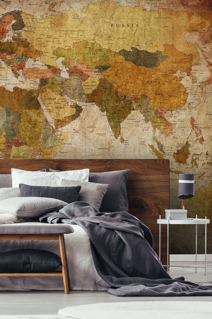 Create A Room Full Of Soul With Vintage Map Discover This Idea And More Wallpaper Ideas In Our Latest Blog Post About Preparing Your Home For Guests