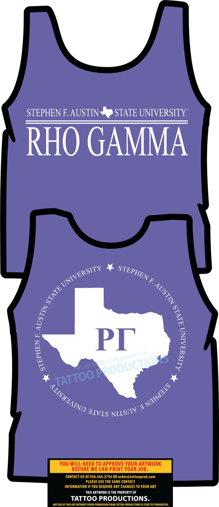 Rho Gamma Texas Shirts