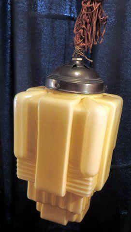 Antieke Art Deco hanglamp