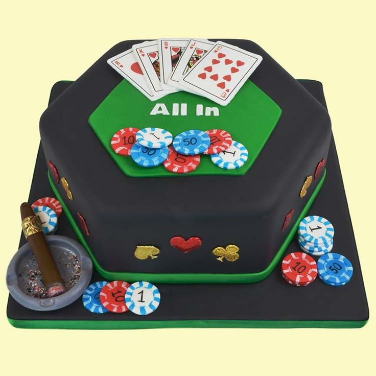 A Classic Casino Cake for the Card Shark Birthday Celebration...really great tutorial and supply list