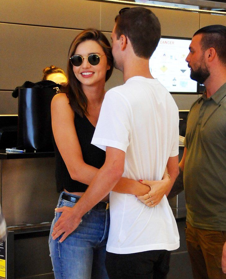Pin for Later: Miranda Kerr Shows the Sweetest PDA With Her Boyfriend, Evan Spiegel