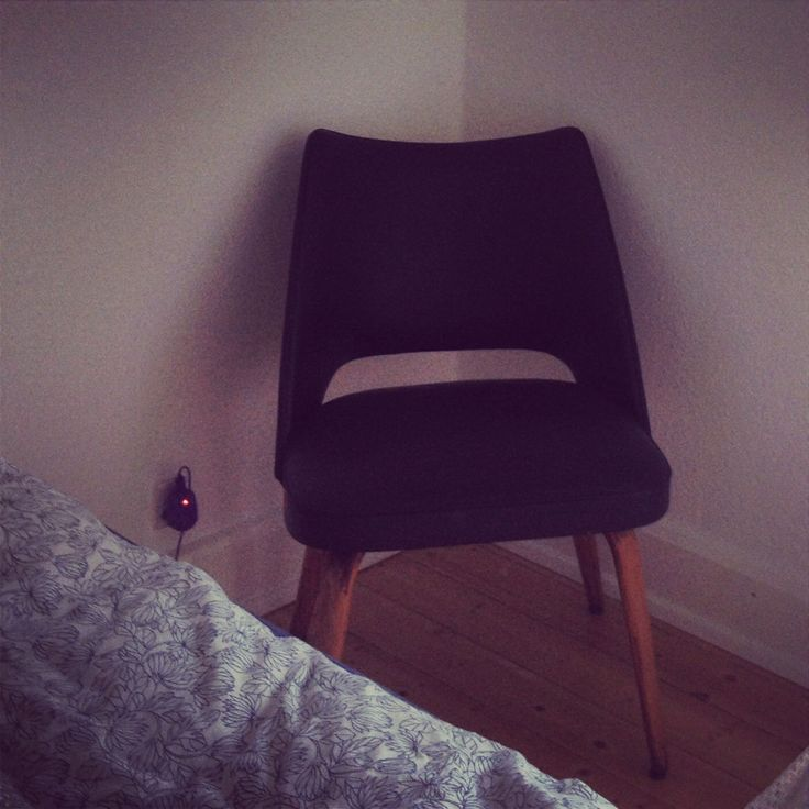 Love our new chair! It brings a darker feel into the bedroom :)