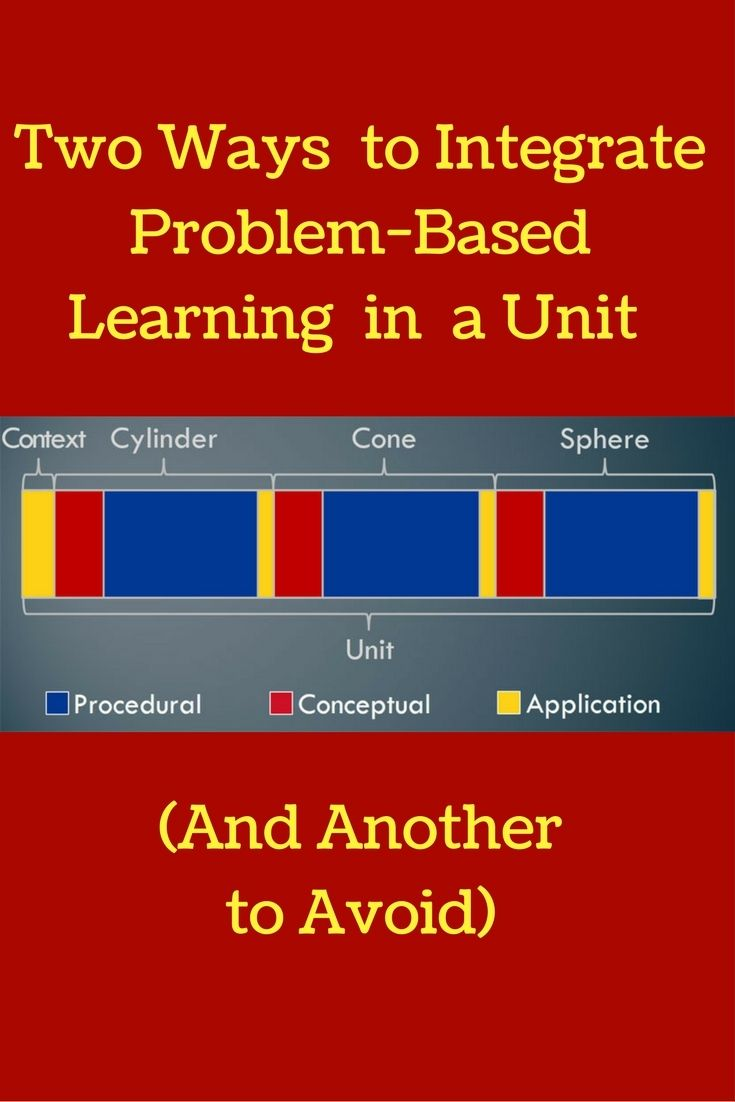 How do you incorporate problem-based learning into a unit? Here's 2 ways & 1 to avoid!