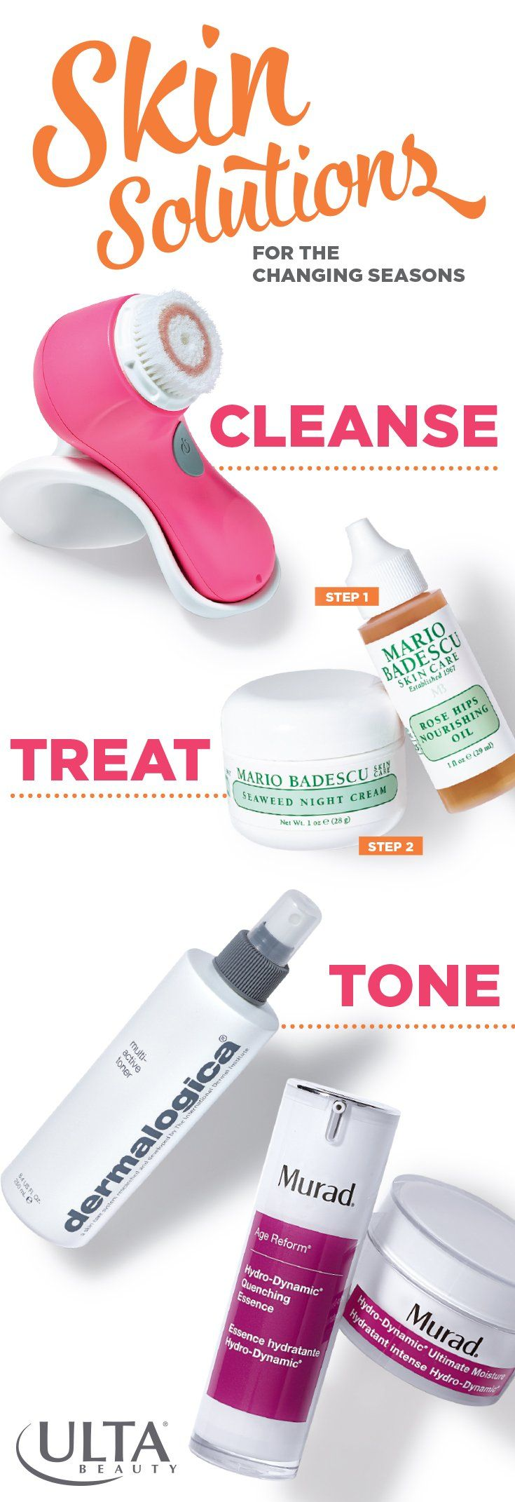 Changing seasons means changing skincare routines. We love this easy regimen for when temperatures drop and the weather dries out your skin.