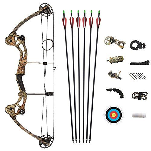 ATROPOS-153 Camo Archery Hunting Compound Bow Set,Right Handed Bow with 40-50lbs Draw Weight | Archery Kits