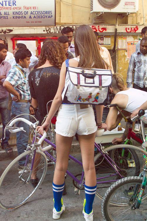 ...: Bikegirls, White Shorts, Bikes, Bike Flatts, Vintage Wardrobe, Dennis Andrianopoulos, Legs, Girls Bicycles, Bike Girls Mac Stuff