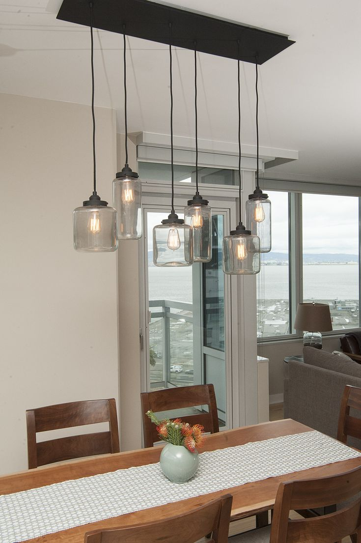 Mason jar light fixture jill cordner interior design dt Kitchen table pendant lighting