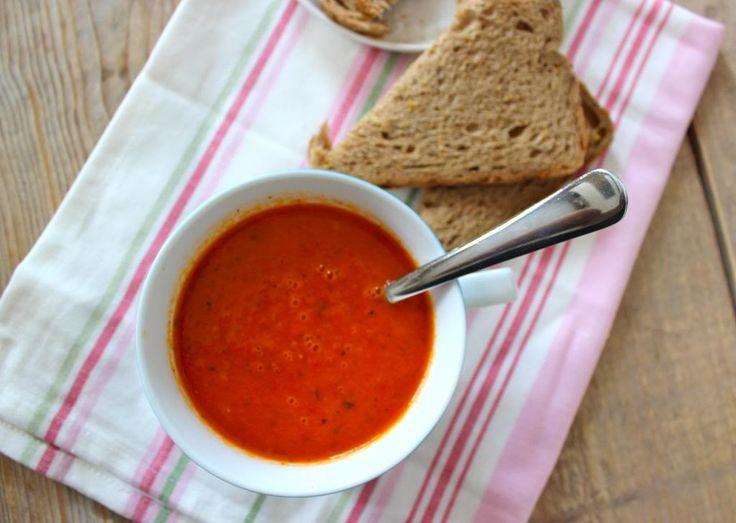 gezonde paprika-tomatensoep