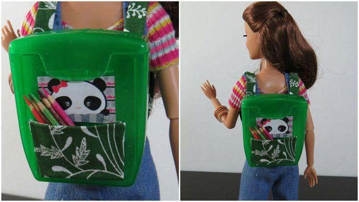Improvisando: Mini Mochila, Porta Retrato e Bracelete para Barbie e Outr...
