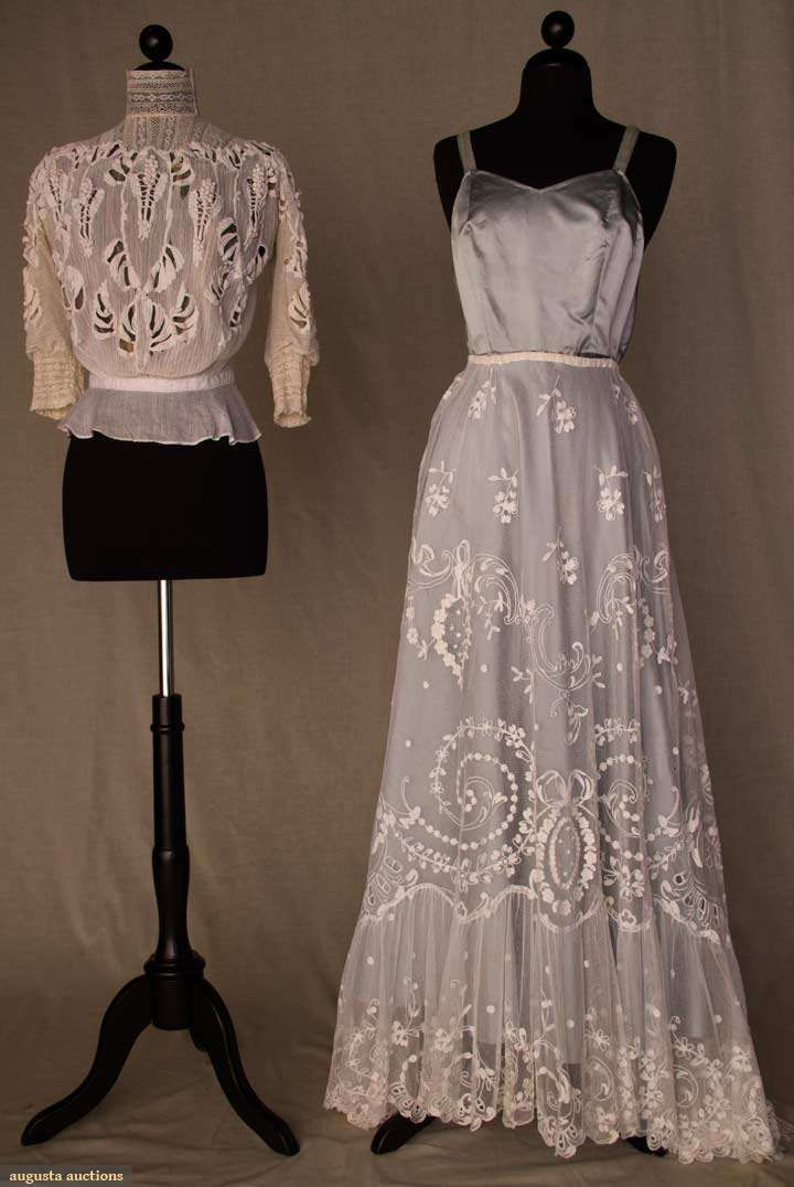 Augusta Auctions, November 10, 2010 - St. Pauls - NYC, Lot 278: Two White Lace Garments, 1900-1910