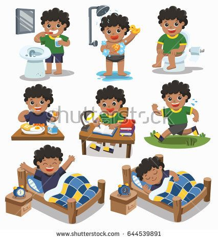 Pajamas Set Out On Bed Clipart